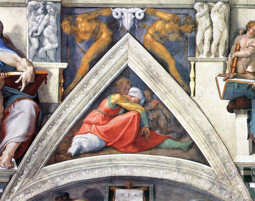 The Ancestors of Christ: Asa - Michelangelo