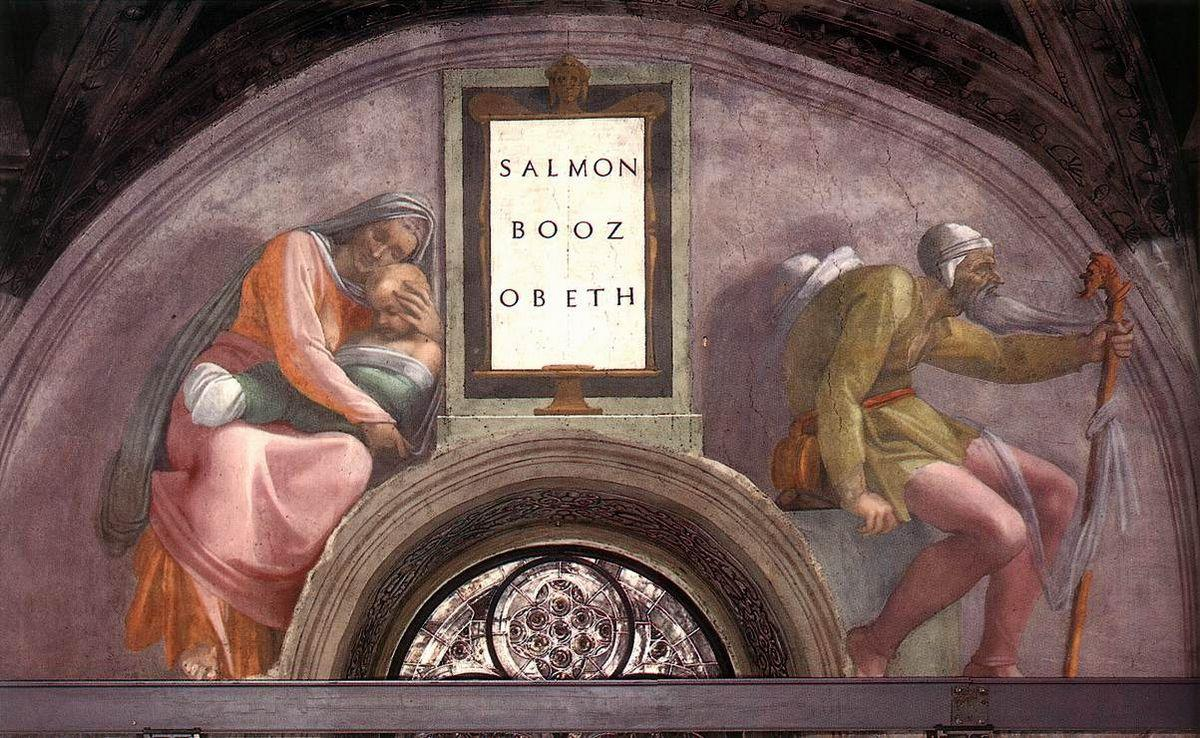 The Ancestors of Christ: Boaz, Obed - Michelangelo