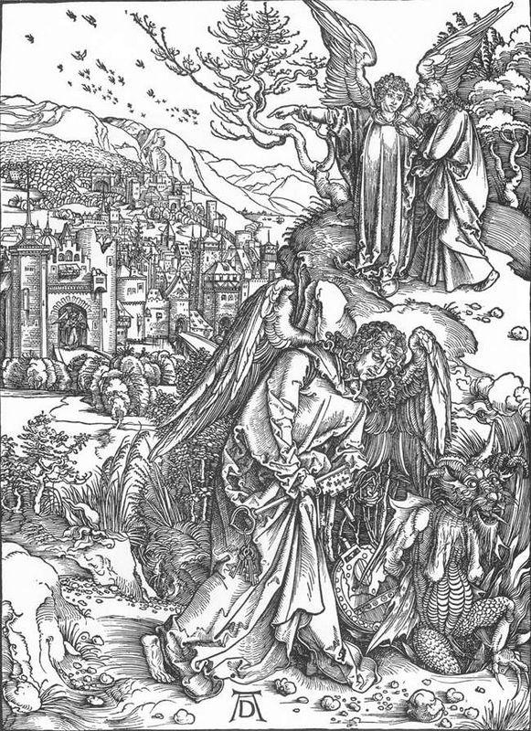The Angel with the Key to the Bottomless Pit - Albrecht Durer