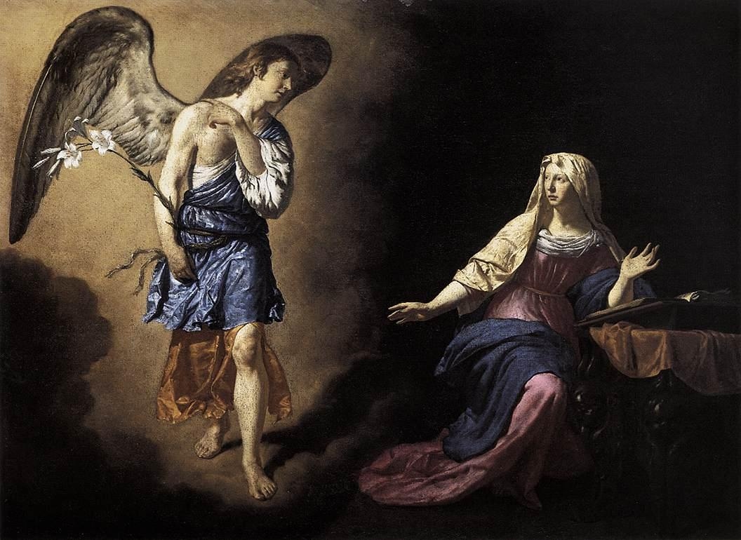 The Annunciation - Adriaen van de Velde