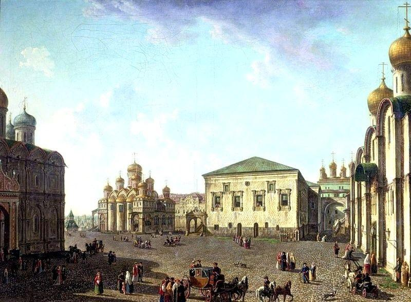 The Annunciation Cathedral and Faceted palace - Fyodor Alekseyev