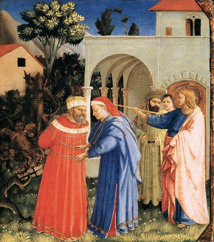 The Apostle St. James the Great Freeing the Magician Hermogenes - Fra Angelico
