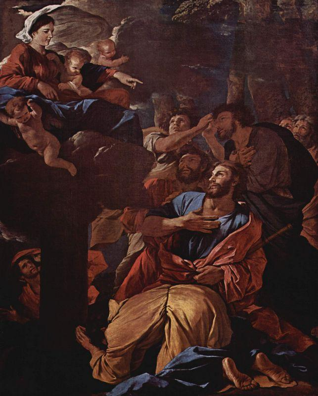 The Apparition of the Virgin the St. James the Great - Nicolas Poussin