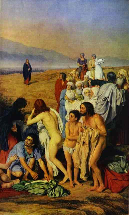 The Appearance of Christ to the People (detail) - Alexander Ivanov