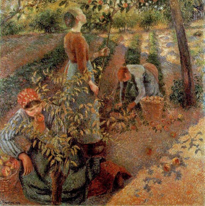 The Apple Pickers - Camille Pissarro