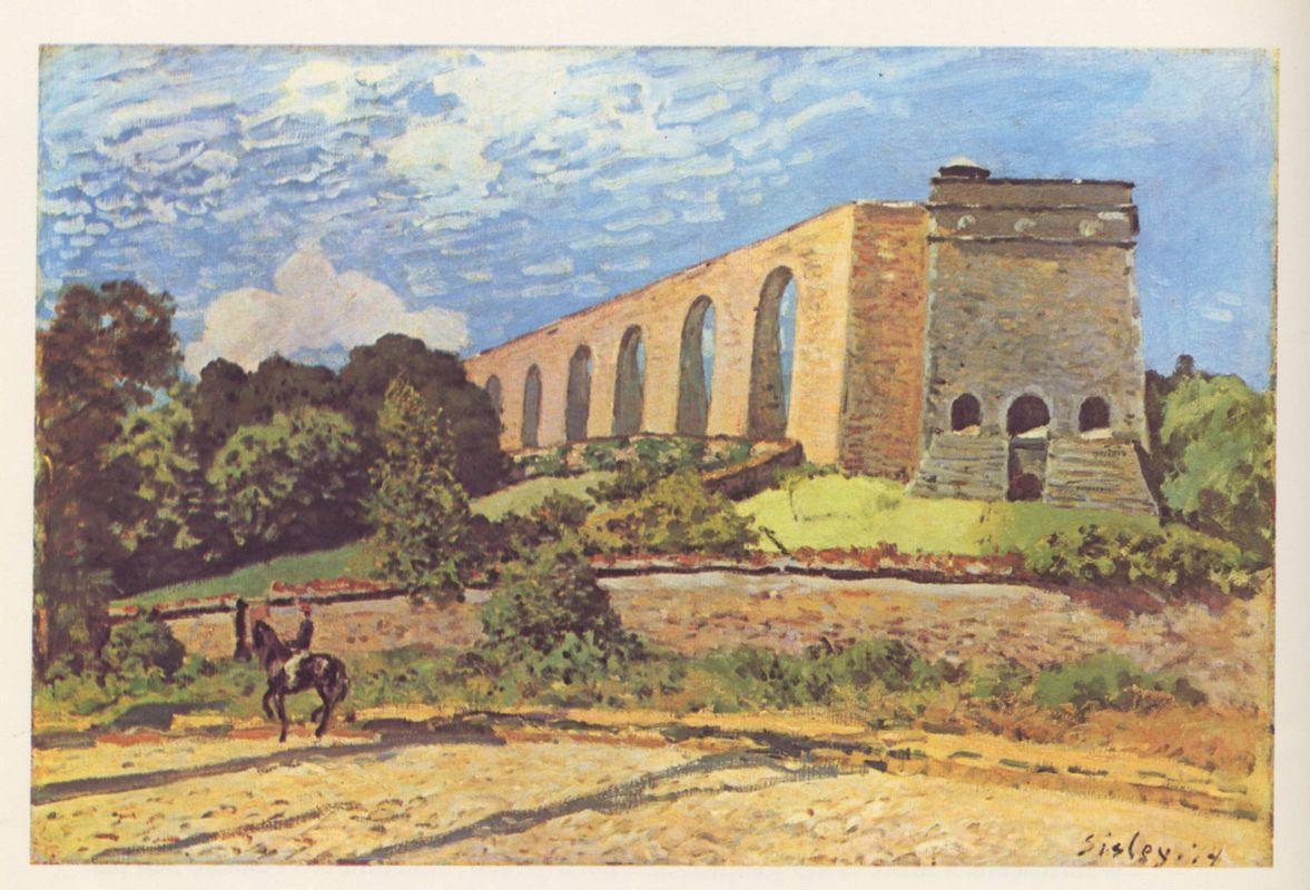 The Aqueduct at Marly - Alfred Sisley