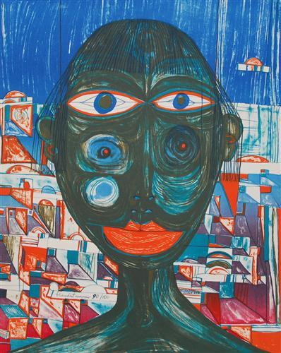 221 Arabian Woman - Friedensreich Hundertwasser