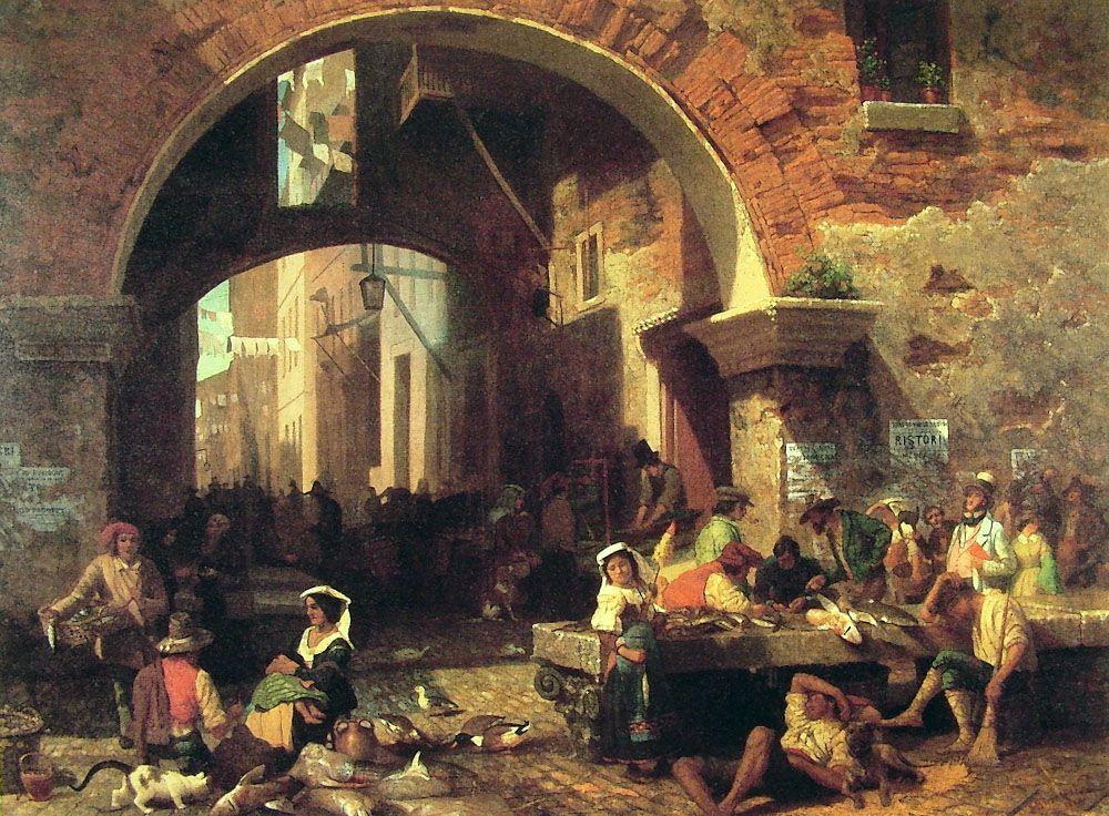 The Arch of Octavius - Albert Bierstadt