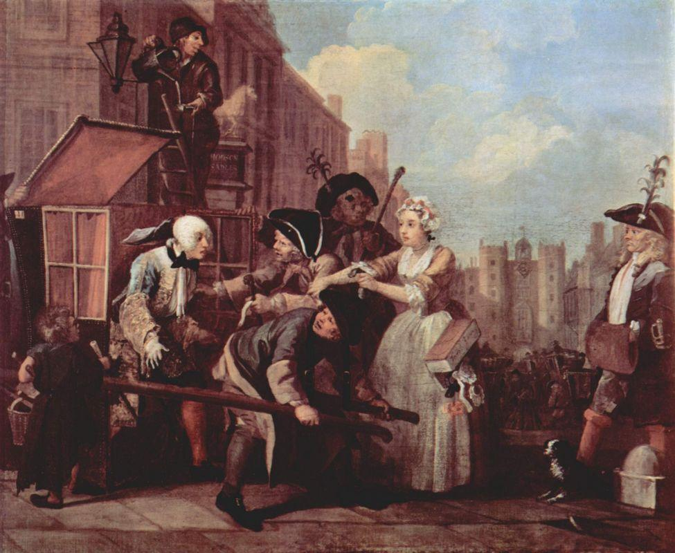The arrest for theft - William Hogarth