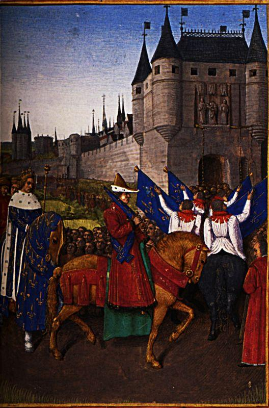 The Arrival of Charles V (1337-80) in Paris, 28th May 1364 - Jean Fouquet