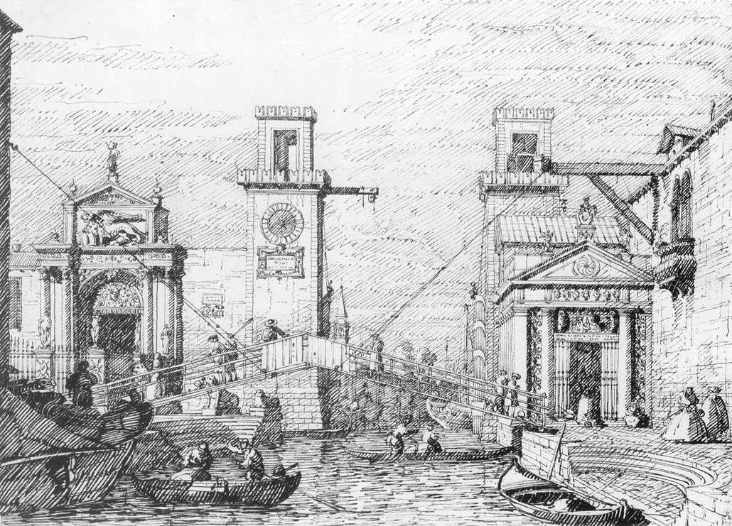 The Arsenal: the Water Entrance - Canaletto