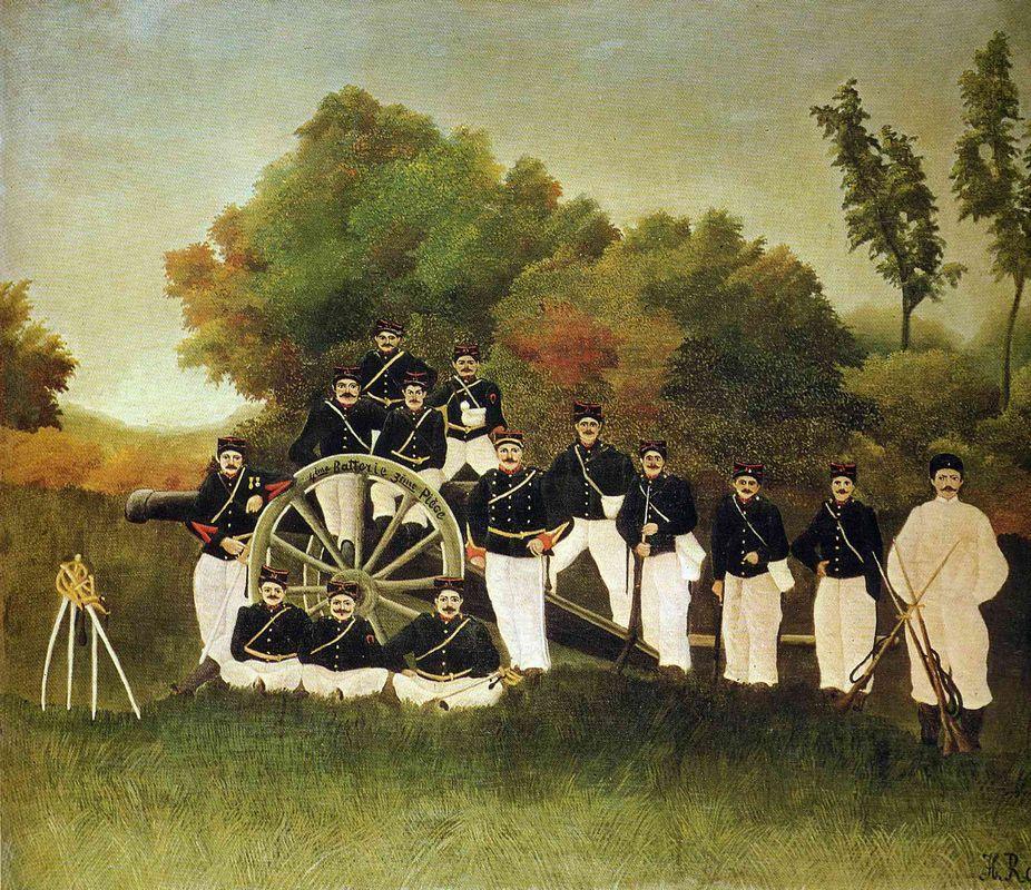 The Artillerymen - Henri Rousseau