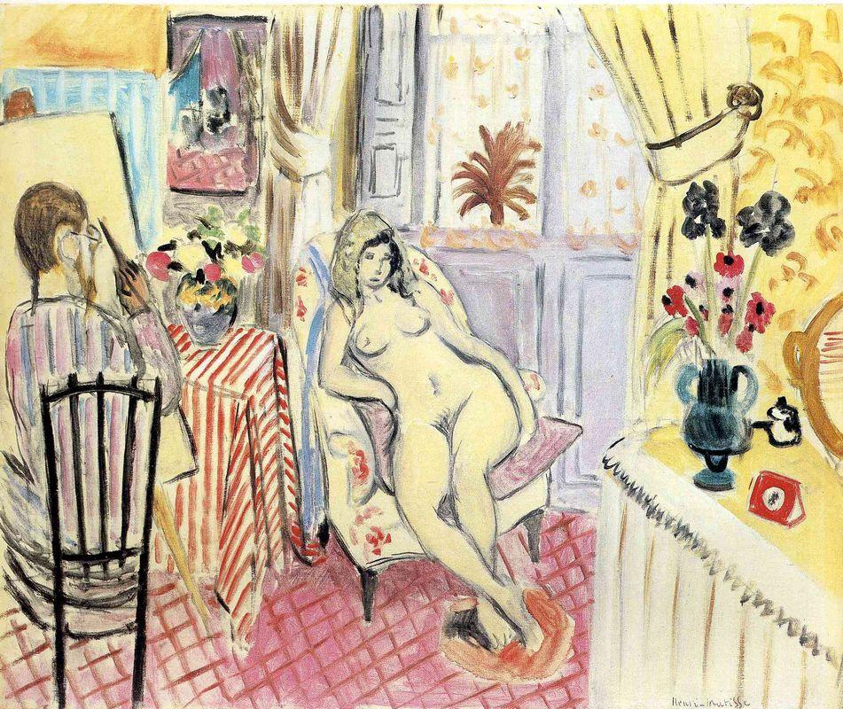 The Artist and his model  - Henri Matisse
