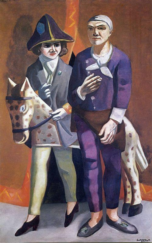 The artist and his wife - Max Beckmann