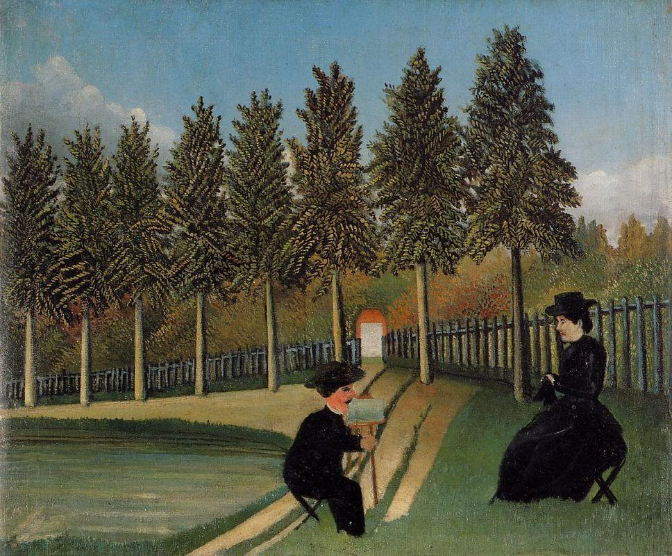 The Artist Painting his Wife  - Henri Rousseau