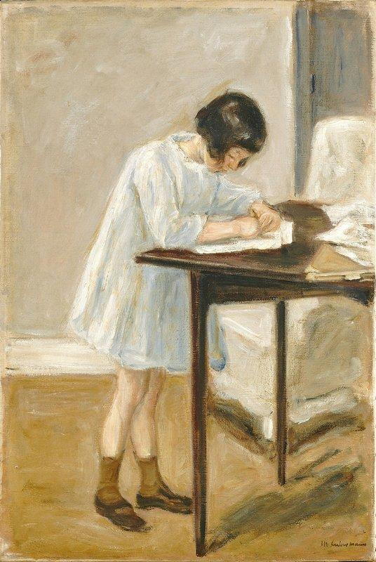 The Artist's Granddaughter at the Table - Max Liebermann