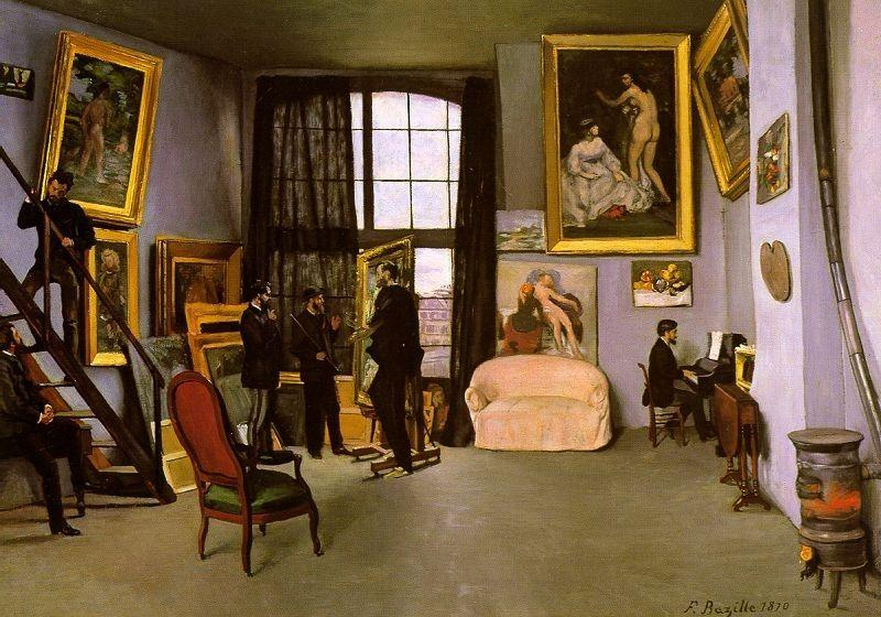 The Artist's Studio, Rue de la Condamine - Frederic Bazille