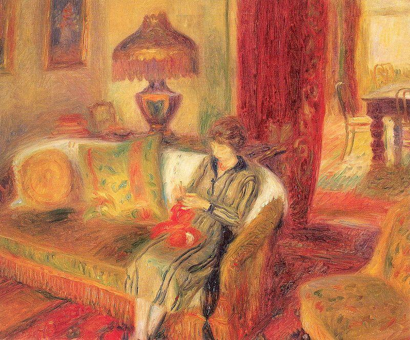 The Artist's Wife Knitting - William James Glackens