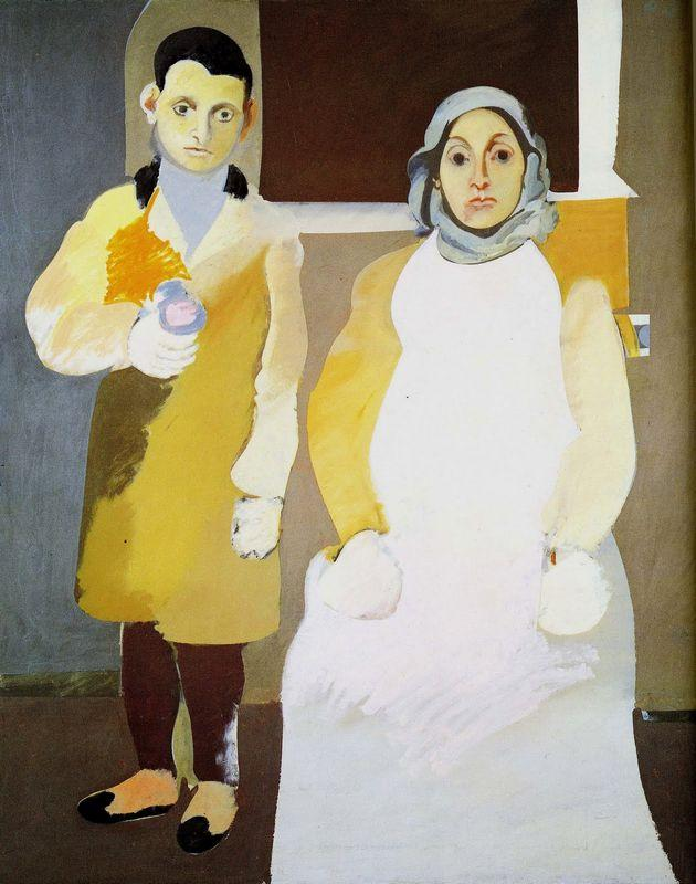The Artist with His Mother - Arshile Gorky