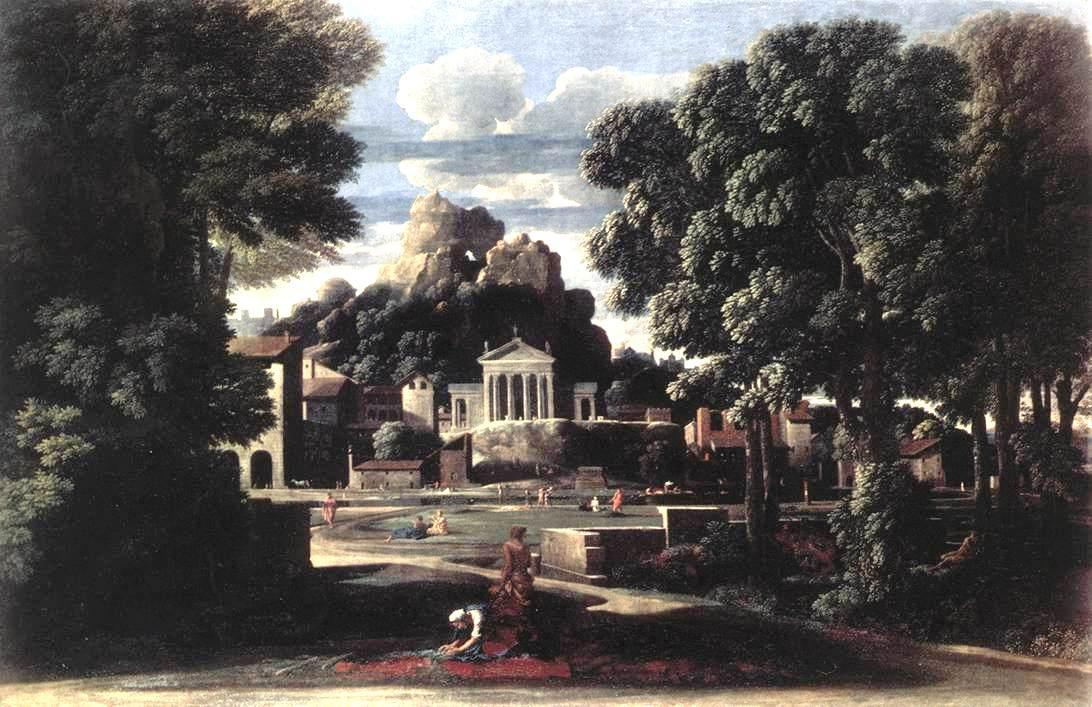 The Ashes of Phocion collected by his Widow - Nicolas Poussin