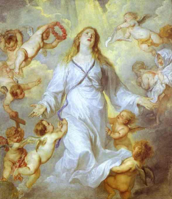 The Assumption of the Virgin - Anthony van Dyck