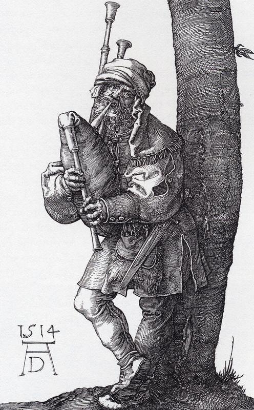 The Bagpiper - Albrecht Durer