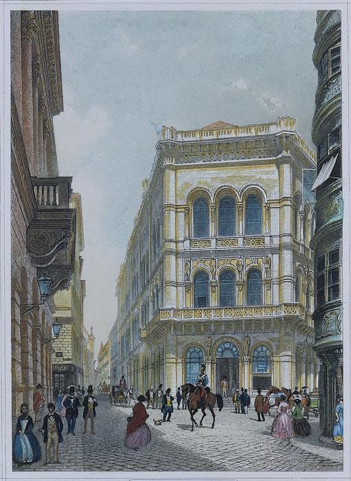 The banking and stock exchange building in the Lord, Vienna - Rudolf von Alt