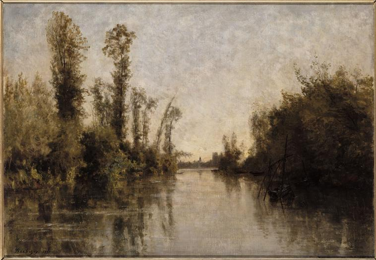 The banks of Seine - Charles-Francois Daubigny