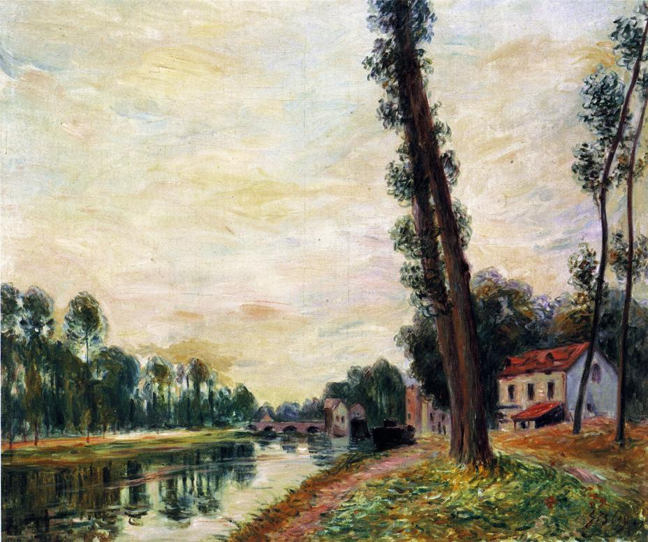 The Banks of the Loing - Alfred Sisley