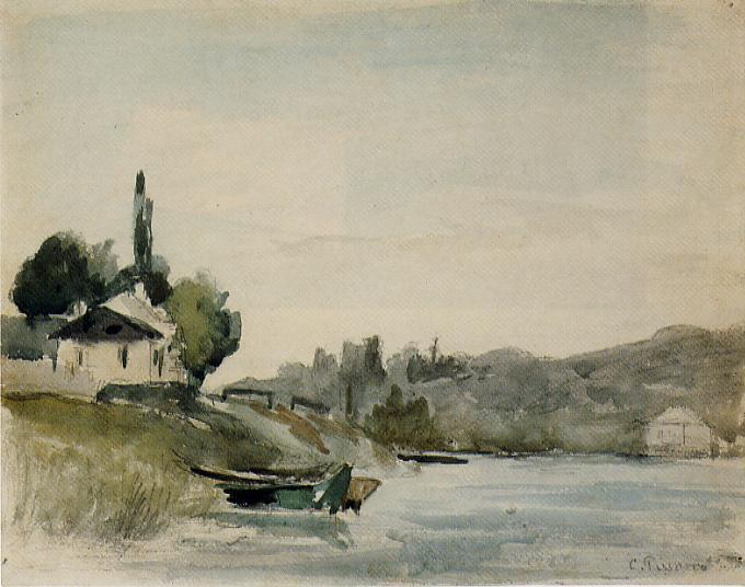 The Banks of the Marne at Cennevieres - Camille Pissarro