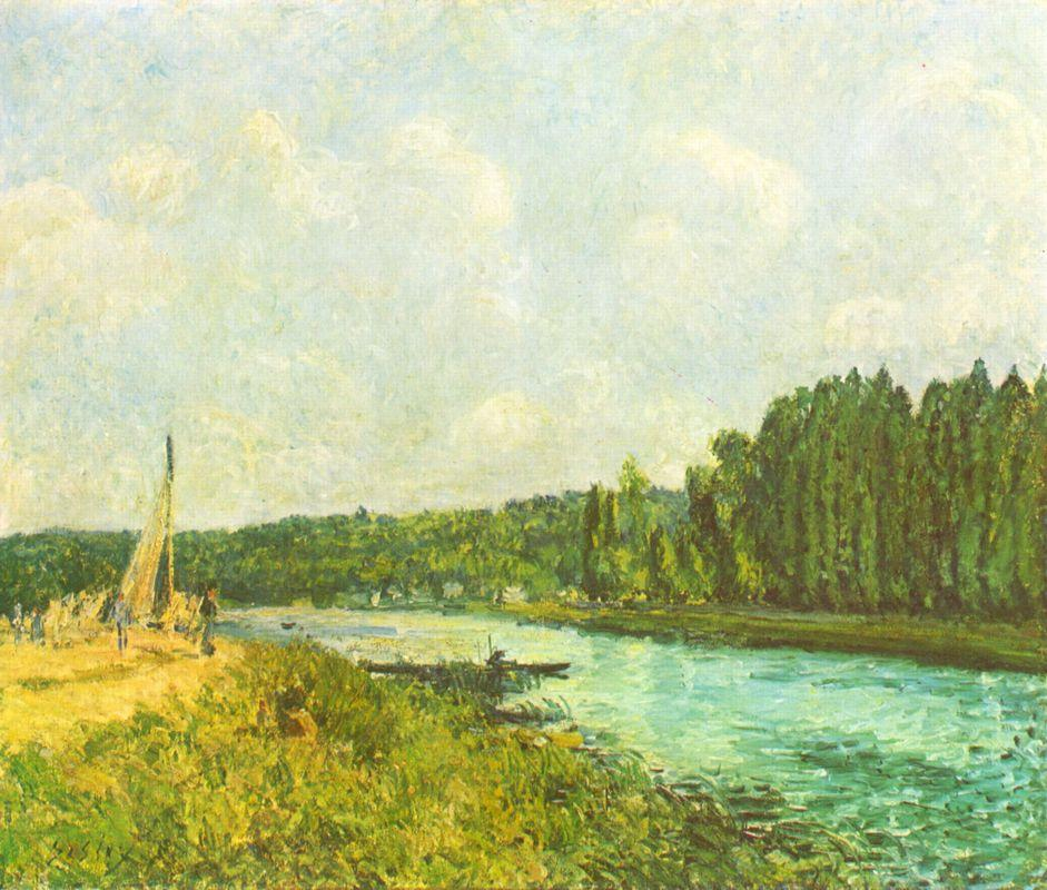 The Banks of the Oise - Alfred Sisley