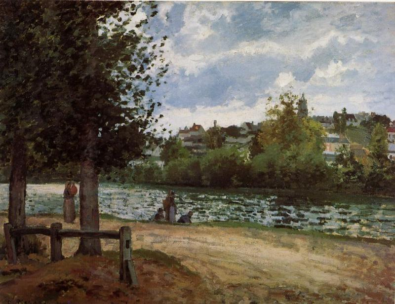 The Banks of the Oise at Pontoise - Camille Pissarro