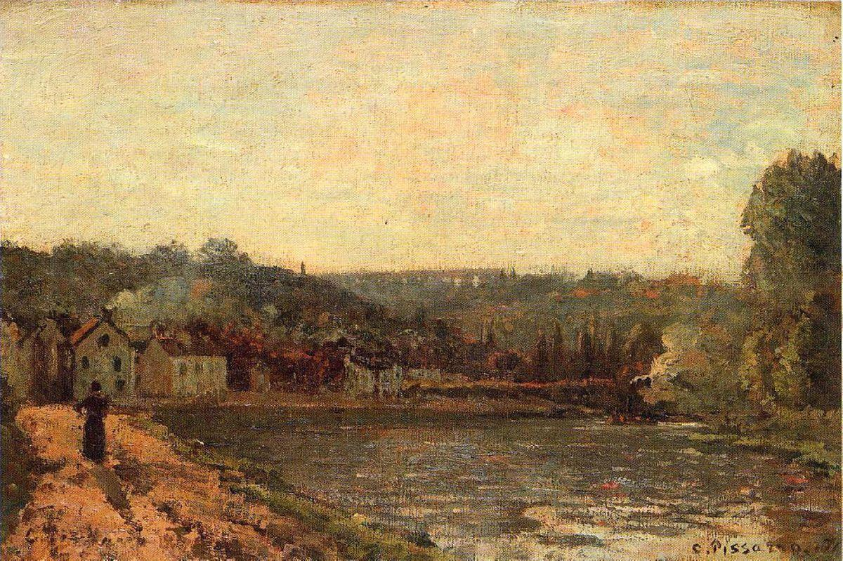 The Banks of the Seine at Bougival - Camille Pissarro