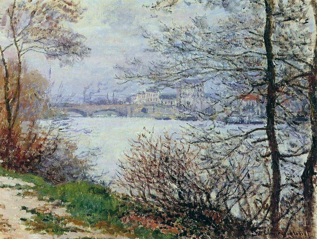 The Banks of the Seine, Ile de la Grande-Jatte - Claude Monet