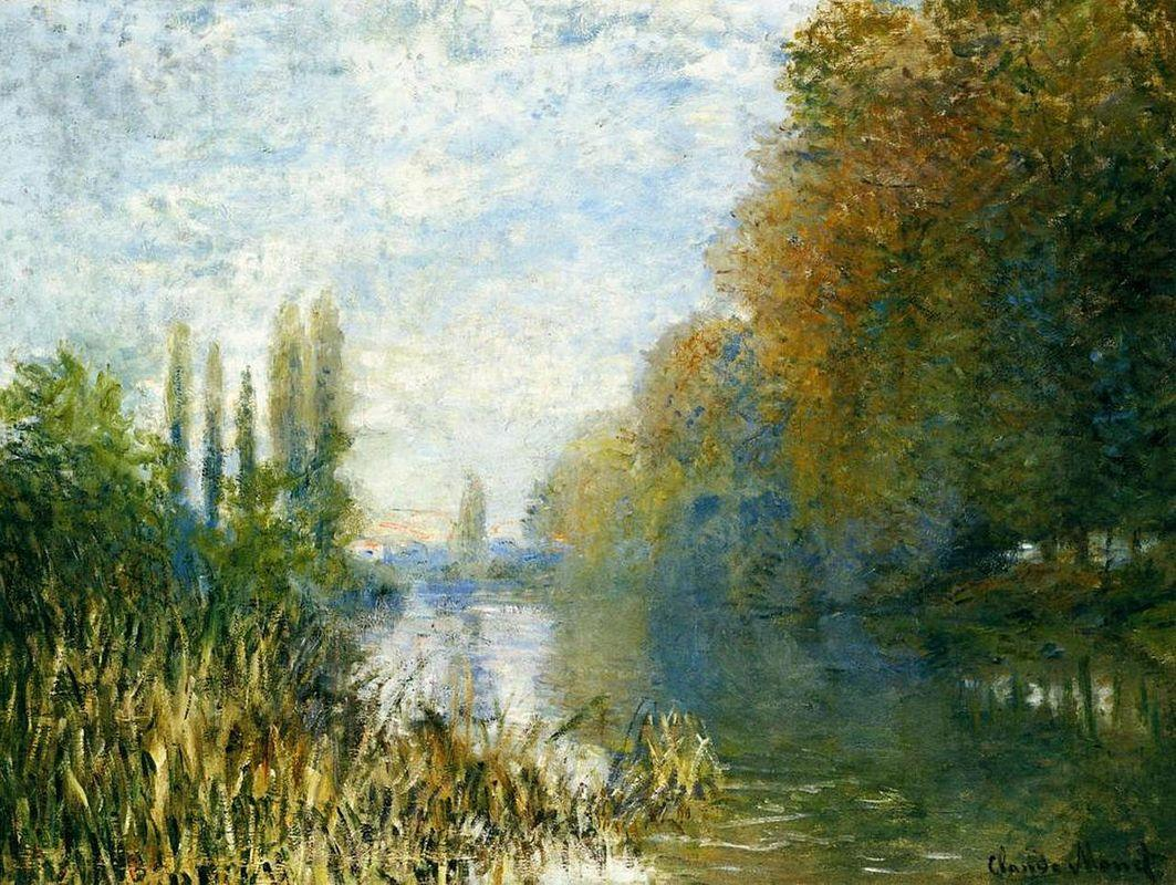 The Banks of The Seine in Autumn - Claude Monet