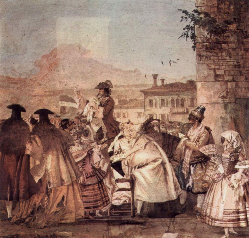 The barker - Giovanni Domenico Tiepolo