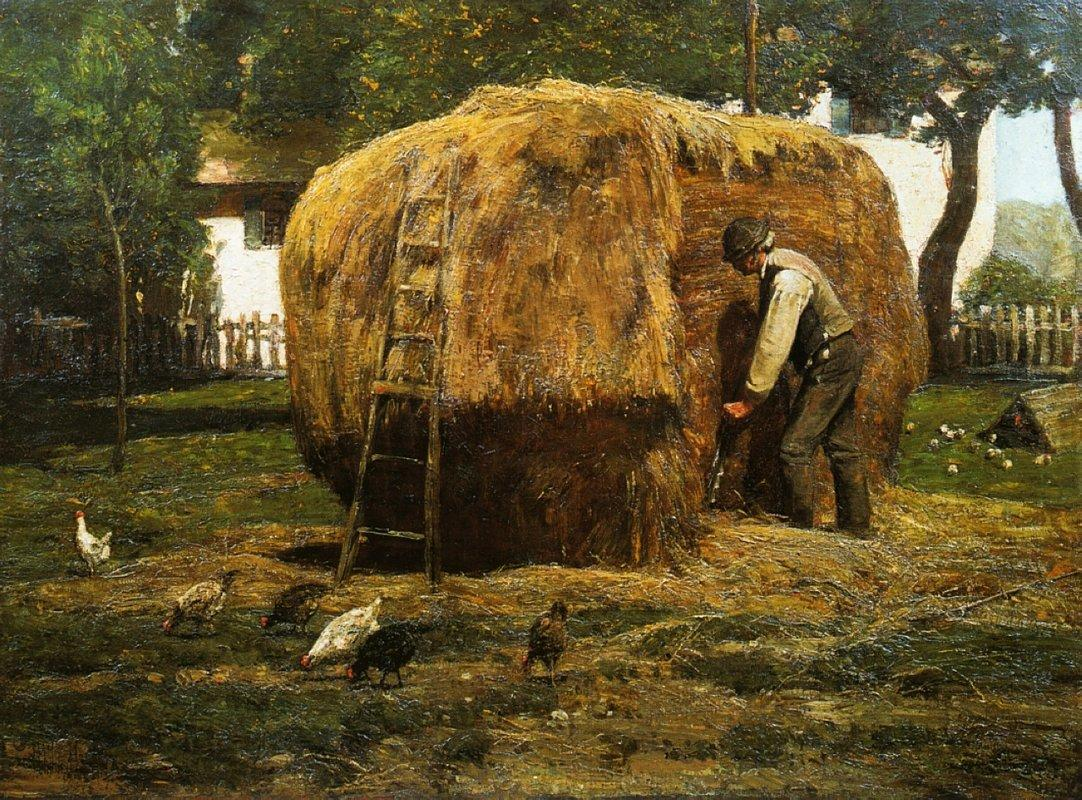 The Barnyard - Childe Hassam