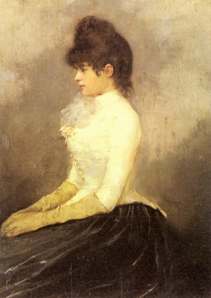 The Baroness von Munchhausen - Alfred Stevens