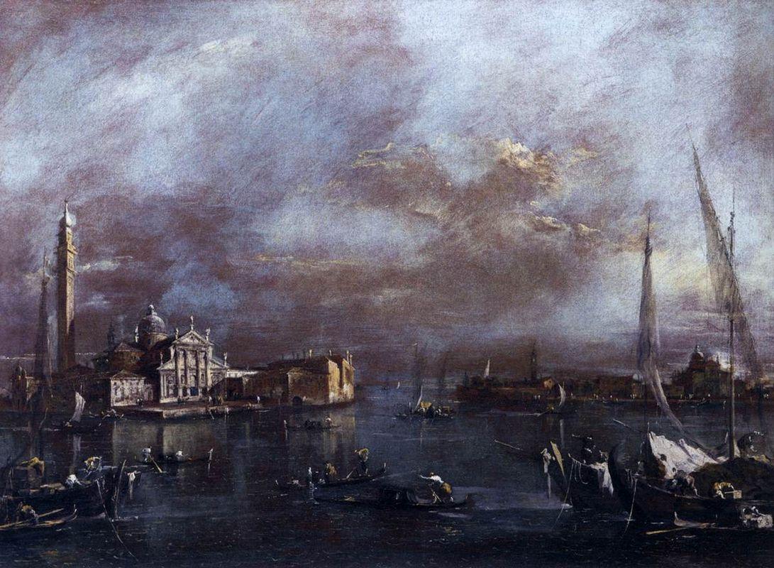 The Basin of Saint Mark's Square, with San Giorgio and the Giudecca, c.1774 (oil on canvas) - Francesco Guardi