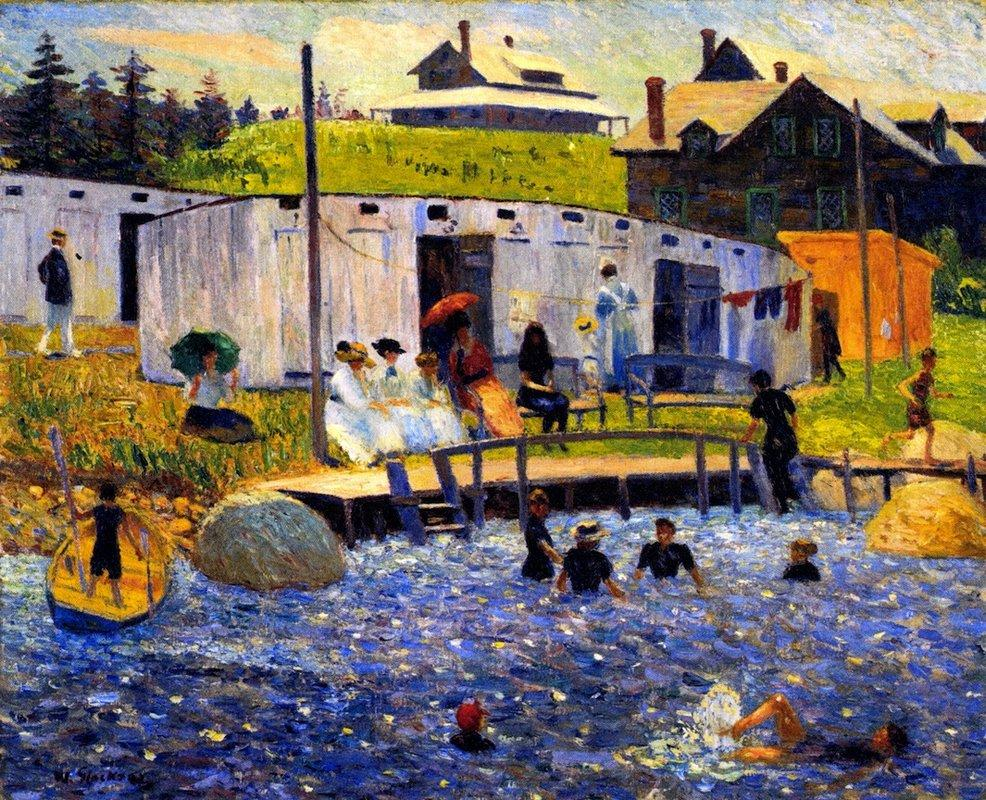 The Bathing Hour - William James Glackens