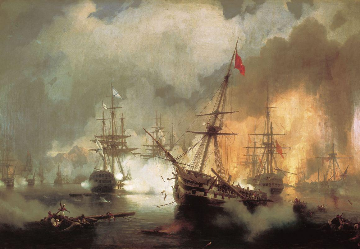 The Battle of Navarino - Ivan Aivazovsky
