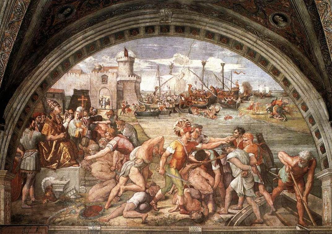 The Battle of Ostia - Raphael