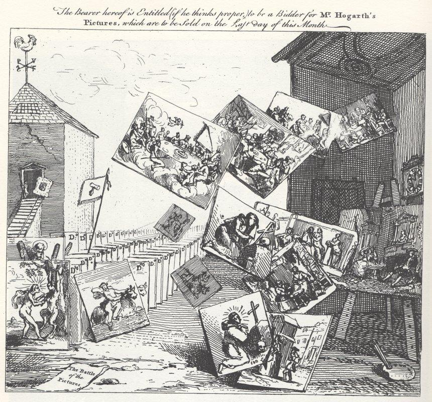 The Battle of the Pictures - William Hogarth