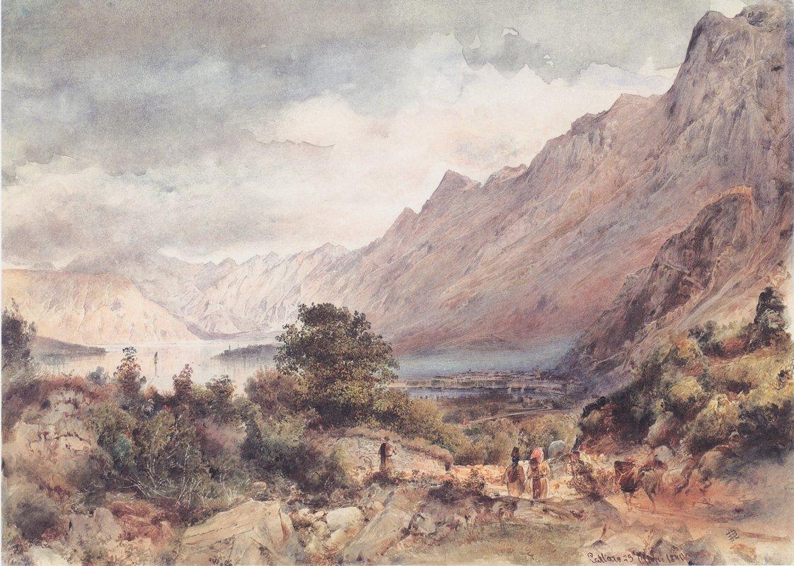 The Bay of Cattaro in Dalmatia - Rudolf von Alt