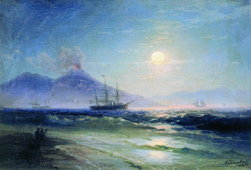 The Bay of Naples at night - Ivan Aivazovsky