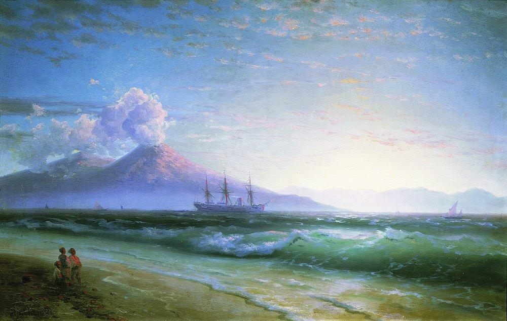 The Bay of Naples early in the morning - Ivan Aivazovsky