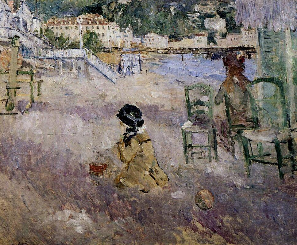 The beach at Nice - Berthe Morisot