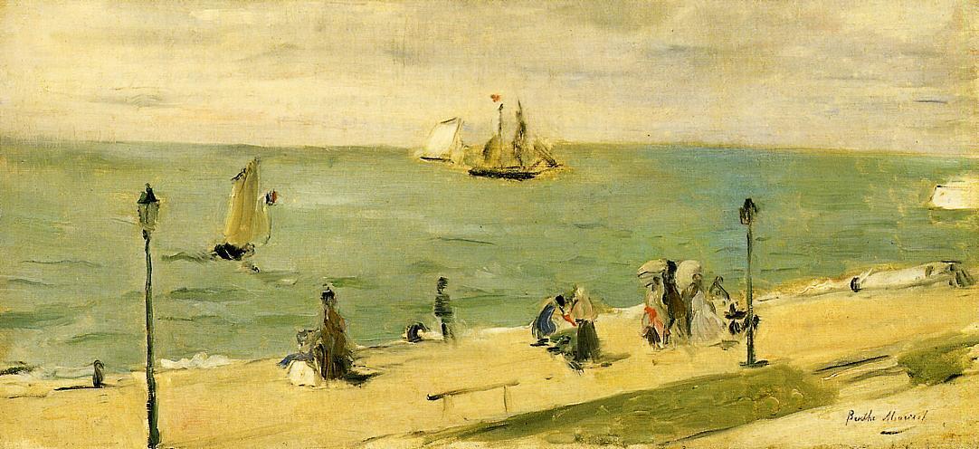 The Beach at Petit Dalles (aka On the Beach) - Berthe Morisot