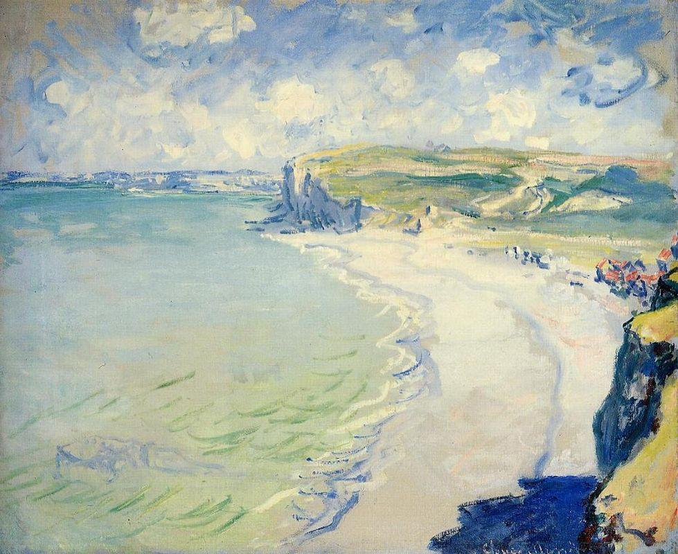The Beach at Pourville - Claude Monet