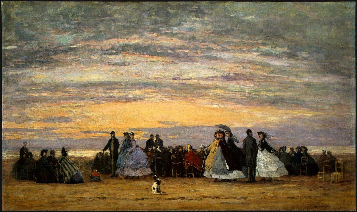 The Beach at Villerville - Eugene Boudin